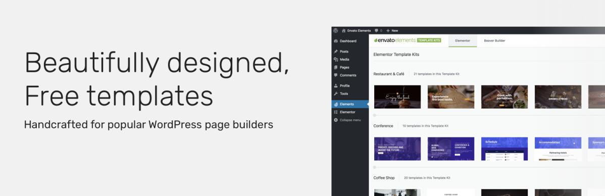 Envato Elements – Template Kits(Beta)
