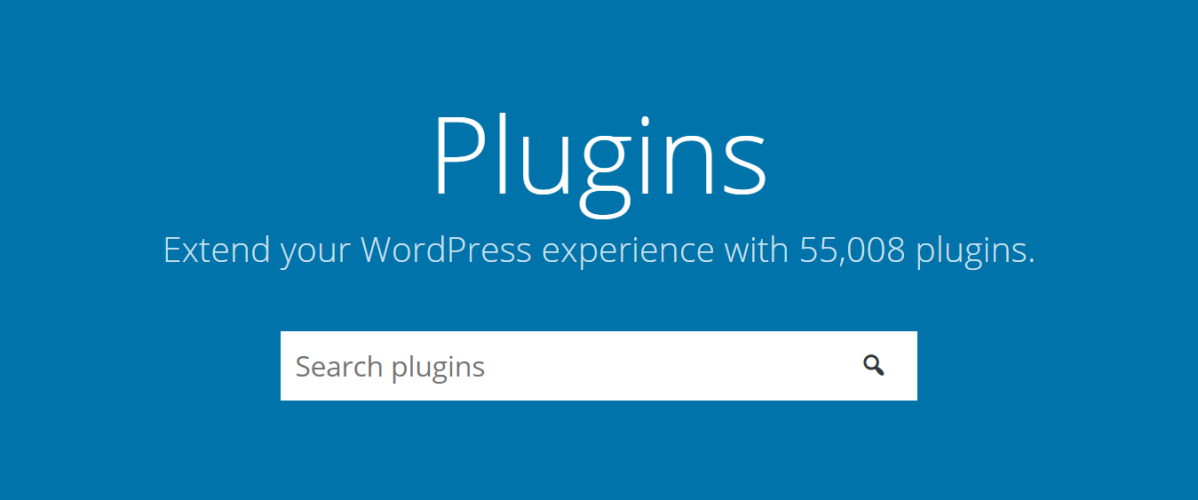 WordPress plugins page screenshot